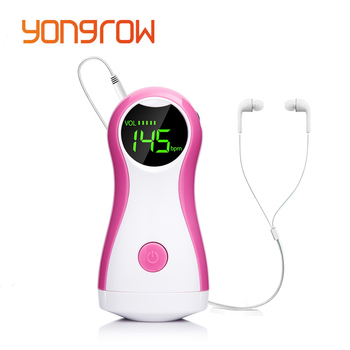Yongrow DigitalPortable Fetal Doppler Baby Herz Rate Beste Fötus Monitor CE Prenatal Gefäß Beat Headset