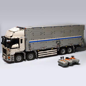Container Building-Block Truck Technic MOC Wing Toy-Set City-Carrier Vehicle
