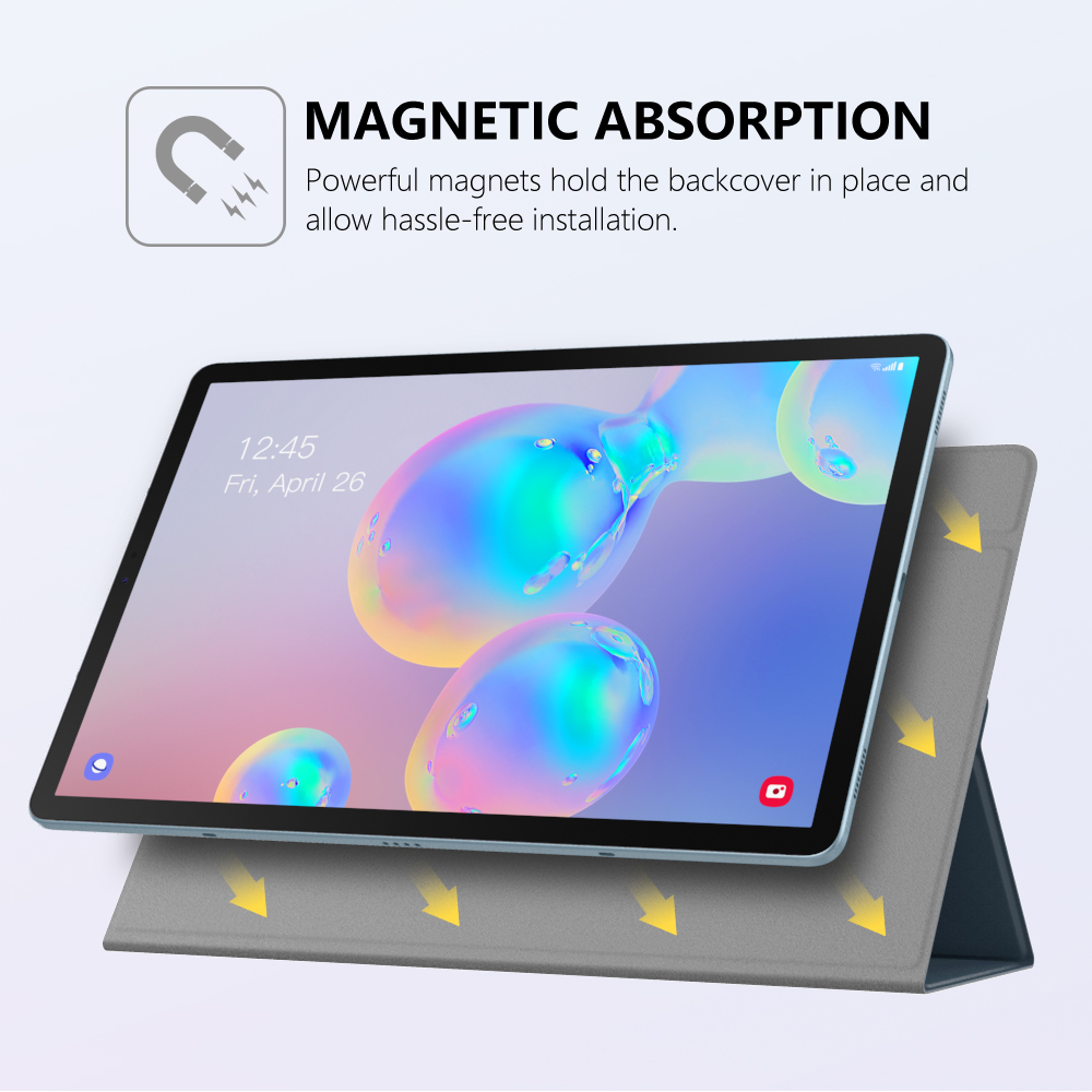 Smart Folio Case For Samsung Galaxy Tab S6 10.5 2019,Slim Lightweight Smart Shell Stand Cover,Strong Magnetic Adsorption For Tab (20)