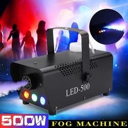 500W RGB LED Kabut Mesin Remote Control Pencahayaan DJ Pesta Asap Pelempar DJ Pesta Lampu Smoke Pelempar