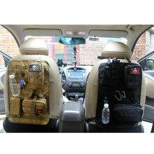 Универсальный Органайзер на заднее сиденье автомобиля, тактический Органайзер Molle, для хранения, для путешествий на открытом воздухе, нейлоновый Органайзер на заднее сиденье, защита для хранения