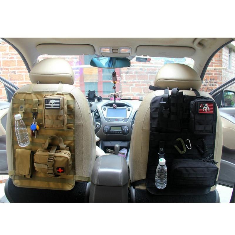 Universal Car Backseat Organizer Tactical Molle Organizer Storage Outdoor Travel Nylon Car Organizer Seat Back Storage Protector