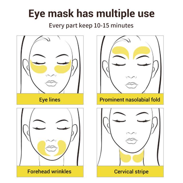 LANBENA Retinol Face Mask Collagen Eye Patch Gel  Tighten  Anti Aging Fade Remove Fine Lines Moisturizing Eyes Skin Care 60 Pcs