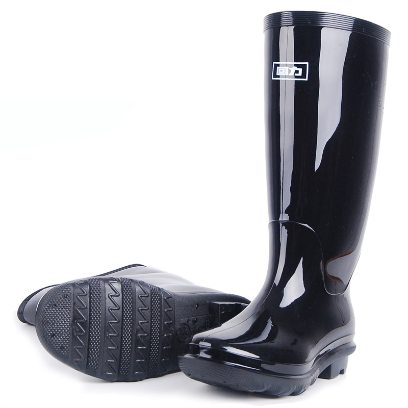 Menwellies Black Insulating Galoshes Rain Boots Rubber Sole Gumboots Fishing Boots Bot Rain Shoes Boots Men
