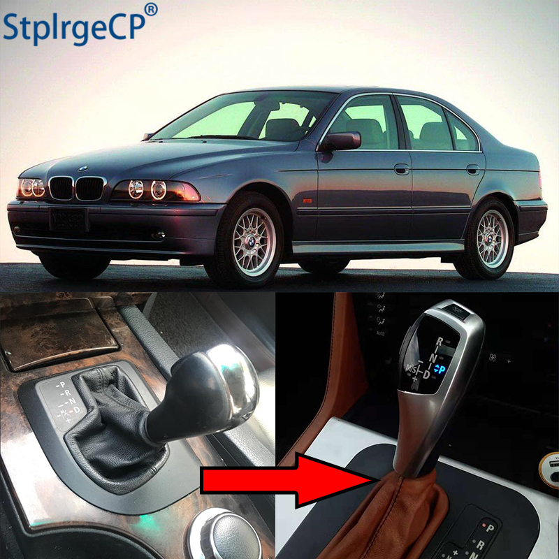 High Quality LED Gear Shift Knob Shifter Lever for BMW 5 Series 1996-2003 E39 4D Sedan 5D Touring Facelifted Car Accessories image