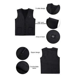 Image 4 - Zewnętrzna kurtka ocieplana kamizelka grzewcza odzież górska USB ładowanie inteligentna elektryczna podgrzewana kamizelka ogrzewanie ubrania zatapialne