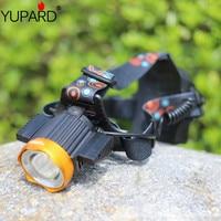 Waterproof Headlight T6 LED Rechargeable 18650 Headlamp 1000LM Light Head Lamp 1T6+2COB Flashlight of Fishing Lantern Head Torch