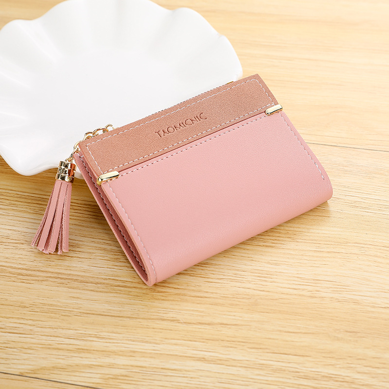 Tassel Women's Wallets Fashion 2020 Coin Purse Female PU Leather Small Women Wallet Short Zipper Clutch Bag Ladies Card Holder