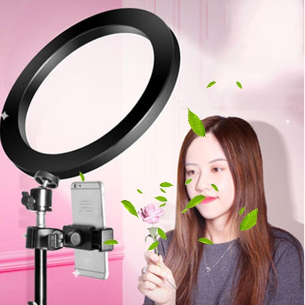 16/20/26cm Mobile Phone Live Fill Light Tripod Led Ring Light Desktop Self-timer Anchor Beauty Photo Lighting