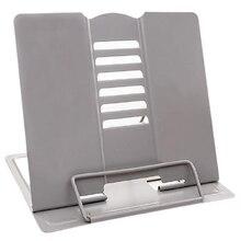 Desk Book Stand Metal Reading Rest Book Holder Angle Adjustable Stand Document Holder Portable Sturdy Lightweight