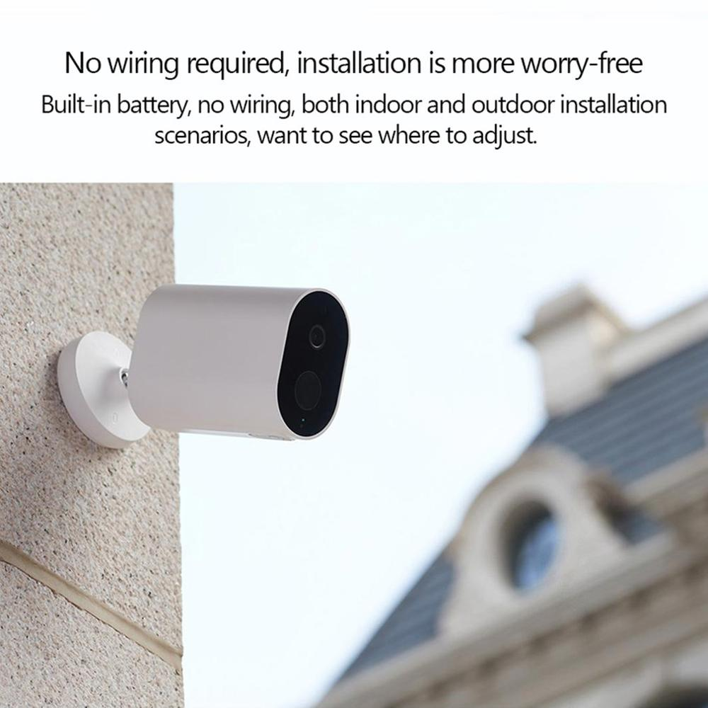 FOR Xiaomi Mijia Smart IP Camera With Battery Gateway 1080P AI Humanoid Detection APP Control Outdoor Wireless Smart Camera