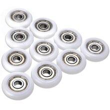 10 шт. раздвижной валик для душа колеса пластиковые двери Замена ролик колеса Runner диаметр 23 мм