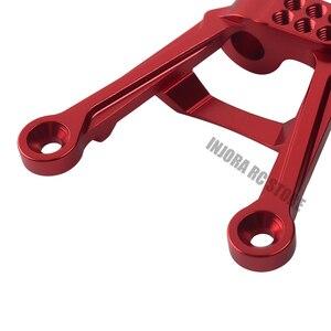 Image 5 - 4pcs CNC אלומיניום אדום מול & אחורי 1/10 הלם בולמי הר לrc Crawler הצירי SCX10 השני שדרוג חלק