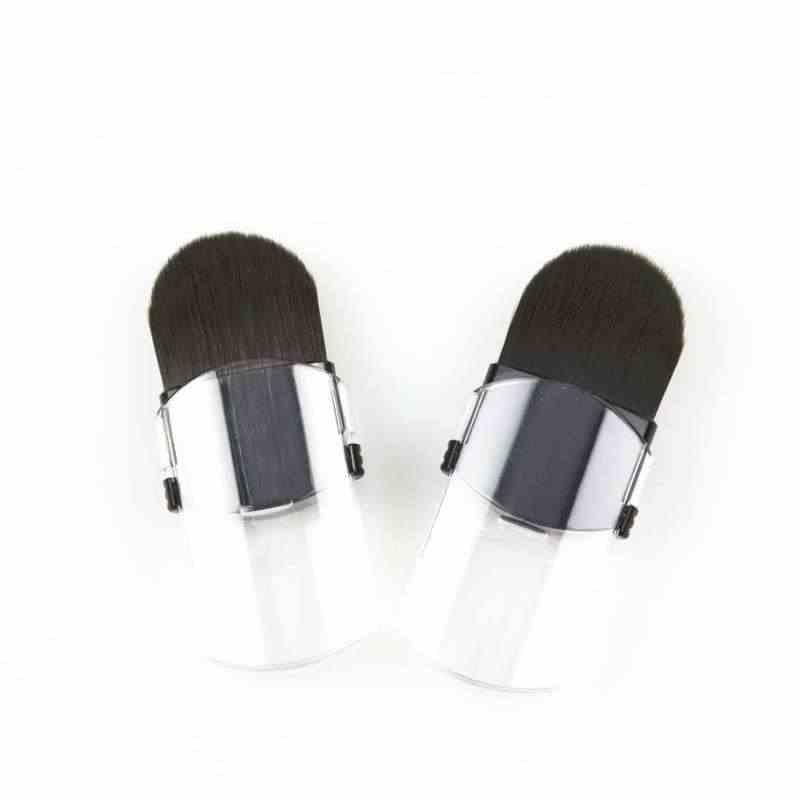 Taşınabilir geri çekilebilir makyaj fırçalar yanak gevşek pudra fırçası güzellik düzeltme makyaj araçları tek küçük kozmetik fırçalar seyahat için