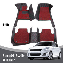 Double Layer Wire Loop For Suzuki Swift 2017 2016 2015 2014 2013 2012 2011 Car Floor Mats Carpets Interior Waterproof Leather