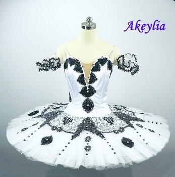 цена на Free shipping White Swan Lake Professional Ballet Tutu Girls Platter Tutu Girls Pancake Ballet Stage Costume Ballerina Tutu Kids