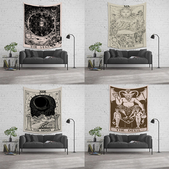 Witchcraft Supplies Divination Beach Mat Vertical Tapestry Farrot New Tarot Card The Sun Moon Astrology image
