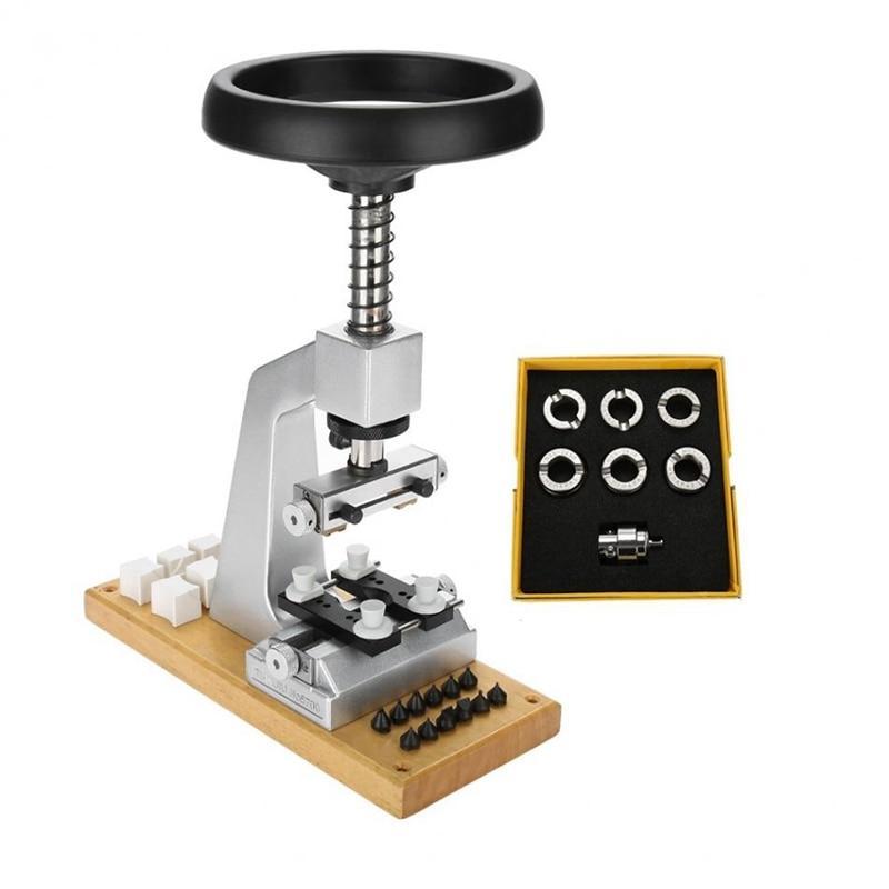 5700 Bench Horloge Case Opener Horloge Tool Terug Opener met 6 Sterft voor Horloge Reparatie Onderdelen Gereedschap voor Horlogemakers