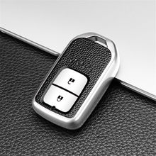 2 Buttons Fashion carbon fiber Car Key Cover Case For Honda Crv Civic Crad V Accord Pilot 2017 2016 2015 Accessories Keychain