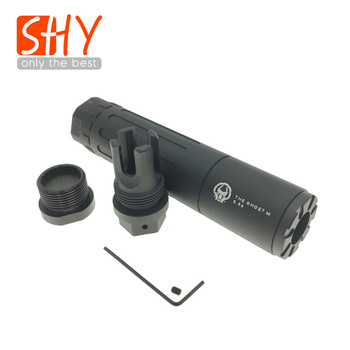 14MM CCW Thread Metal The Ghost M Suppressor For Toy Gel Ball Blaster Airsoft AEG GBB