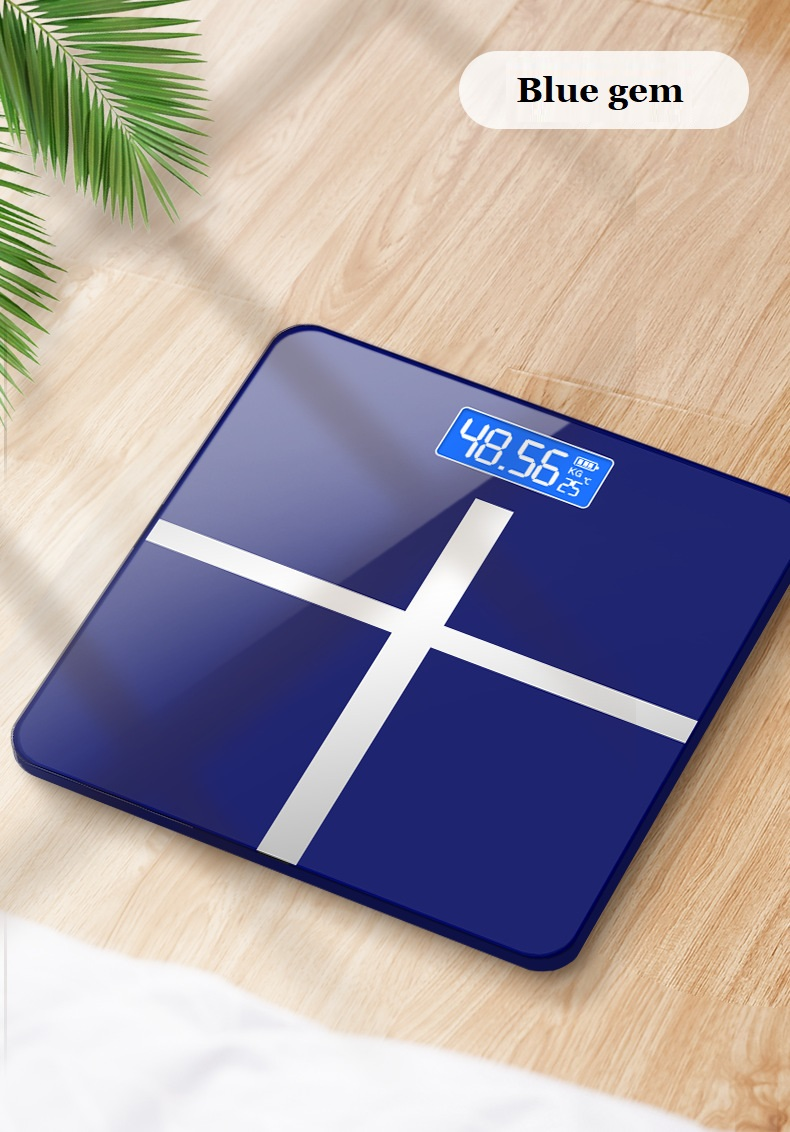 USB charging Smart Household Weighing Scale Small Fat Scale LED Digital English Function Screen Intelligent gravity sensor scale