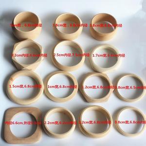 Image 4 - Sanshoor 14 デザイン未完成木製バングルブレスレットセット大幅直径女性の子供diy塗装ジュエリークラフト