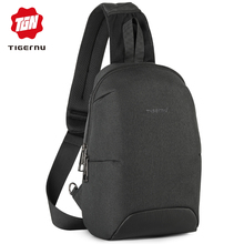 Tigernu Fashion RFID Crossbody Bag For 7.9 inch Ipad Casual Men Chest Pack Unique Design Shoulder Bags Anti Theft Back