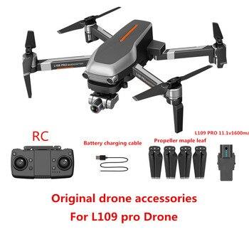 L109 PRO Drone accesorios originales 11,1 v 1600 mAh batería hélice Blade USB línea de carga para L109 PRO piezas de repuesto de drones