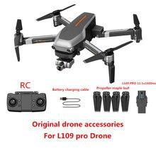 Accessoires d'origine pour Drone L109 PRO, batterie 11.1v 1600 mAh, hélice, lame de charge USB, ligne de charge USB, pièces de rechange pour drone L109 PRO