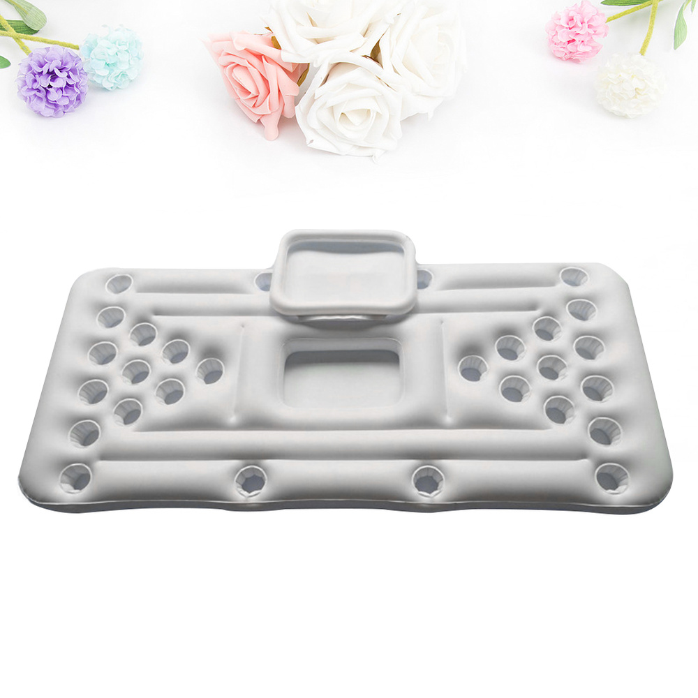 1PC Inflatable Beer Table Portable 28 Cup Hole Float Row Water Beverage Ice Bucket Floating Bed Water Inflatable Table for Water