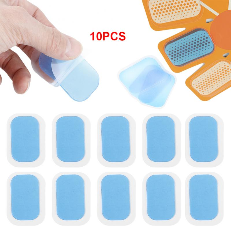 10Pcs ABS Stimulator Hydrogel Replacement Adhesive Toning Muscle Slimming Hip Abdominal Gel Pads Stickers Trainer Accessories