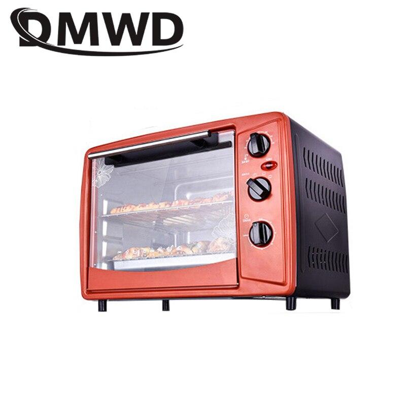 DMWD Многофункциональные бытовые электрические для пиццы печенья духовка Тостер 1500 Вт 30л независимый контроль температуры машина для выпечк