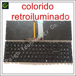 Spanish RGB backlit colorful Keyboard For MSI GT62 GT72 GE62 GE72 GS60 GS70 GL62 GL72 GP62 GT72S CX62 GL63 GL73 GS72V Latin SP(China)
