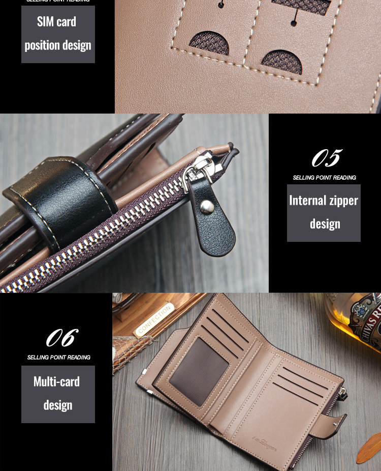 H13436e9885724163b9868e8fb74207a8T - New Korean casual men's wallet Short vertical locomotive British casual multi-function card bag zipper buckle triangle folding