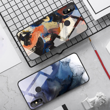 Oil Painting Glass Case for Xiaomi Mi A2