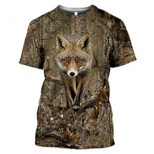 2021 Men's T-Shirt Summer Leisure Camouflage Animals Hunt Rabbit 3D T-Shirt Fashion Women/Children Street Short Sleeve T-Shirt L