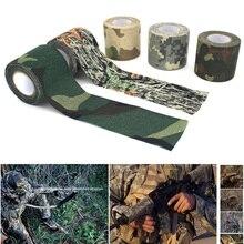 4,5 см x 5 м 5 цветов натуральный латексный армейский Камуфляжный инструмент для охоты и стрельбы камуфляжная невидимая лента Водонепроницаемая прочная пленка