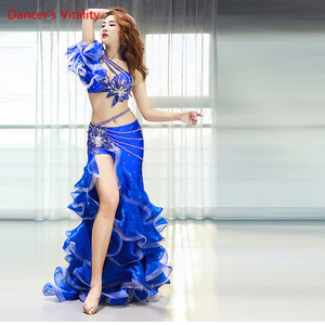 Image 2 - Belly Dance Performance Clothing Women Sense New Long Skirt Suit Oriental Dance Competition Suit
