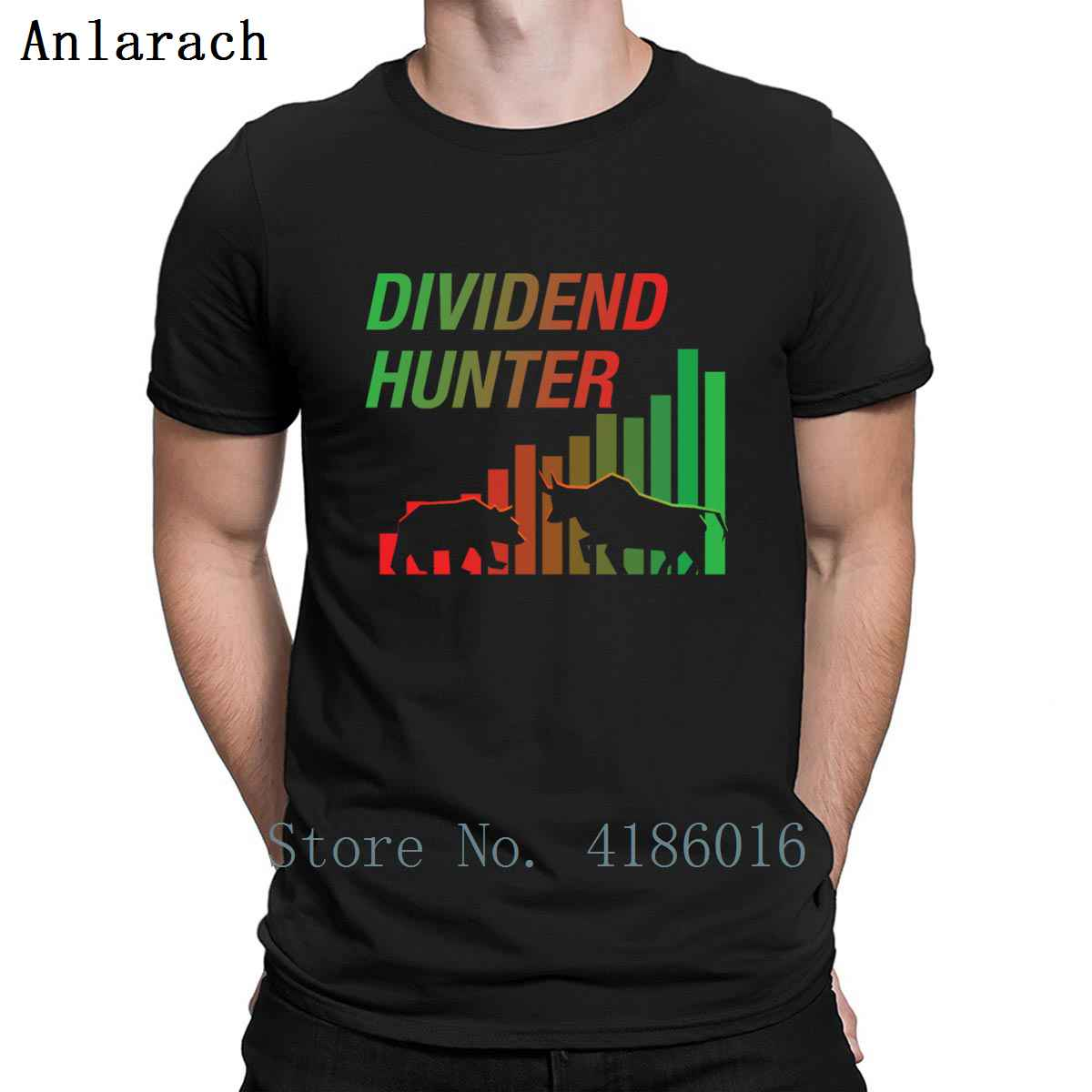 Dividend Hunter Money Stocks Investors Gift T Shirt Vintage Short Sleeve Spring Gift Comical Create O-Neck Outfit Shirt image