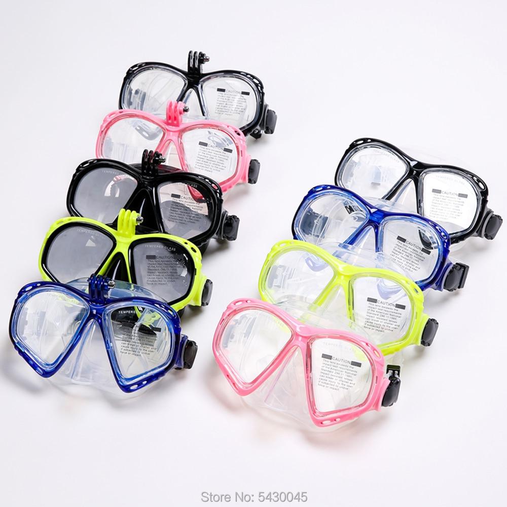 Máscaras de mergulho profissional silicone snorkel anti-nevoeiro