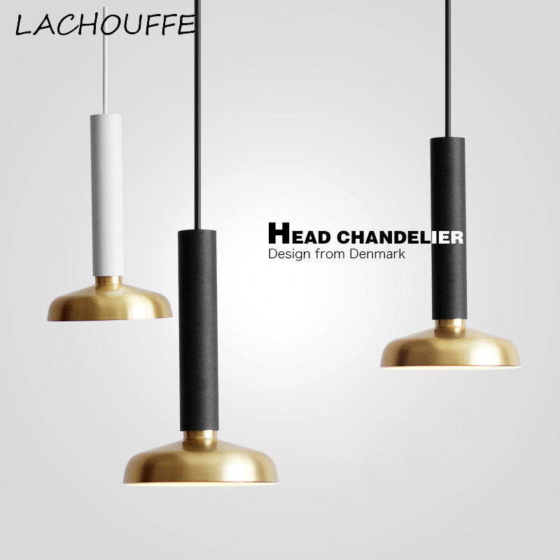 Moderne Simple cuivre pendentif lumières de luxe Led suspension lampe pour chambre cuisine café hôtel Vintage décor industriel Luminaire