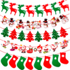 QIFU Christmas Banner Garland Merry Christmas Decor for Home Navidad Noel 2020 Christmas Ornaments Xmas Decor New Year 2021