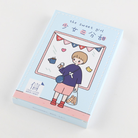 Sweet Girl Paper Postcard(1pack=30pieces)