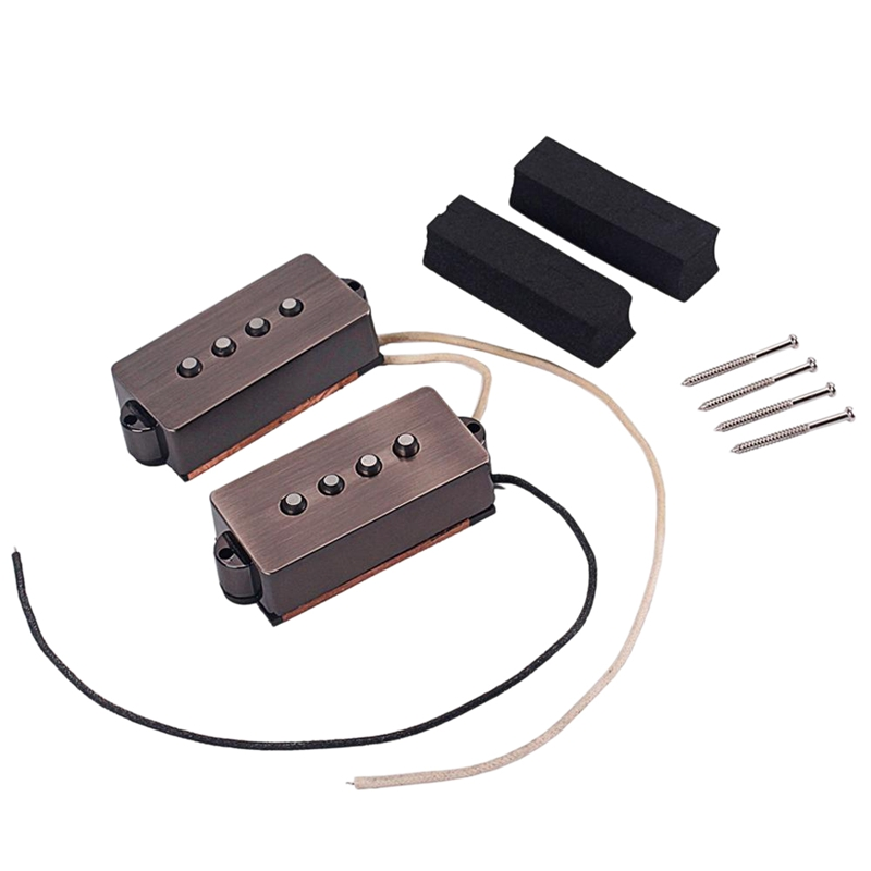 Open Alnico 5 Pb P Bass Pickup Humbucker Pickup Alnico V Black For 4 String P Bass Replacement