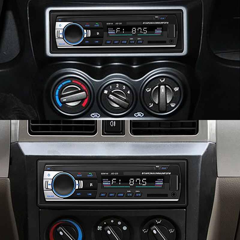 سيارة مشغل وسائط متعددة 12 فولت في اندفاعة 1 الدين بلوتوث Autoradio MP3 مشغل موسيقى راديو ستيريو بالسيارة FM Aux المدخلات استقبال USB