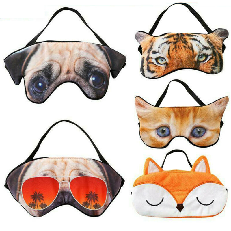 3D Cartoon Animal Sleeping Eye Mask Soft Cute Padded Sleep Eyepatch Shade Cover Rest Relax Eyeshade Blindfold Eye Care