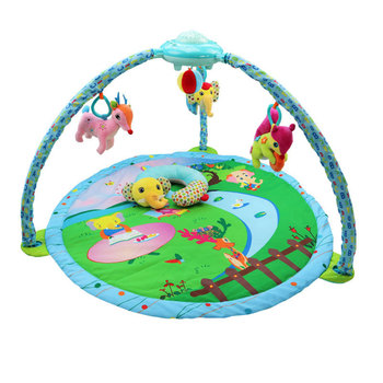 Baby Play Mat Crawling Music Game Exercise Sleep Rattle Plush Animal gyrate sky Doll Head Shaping Pillow Mobile Phone Case