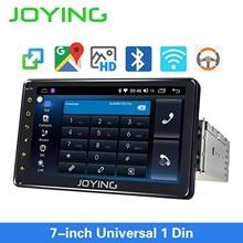 JOYING Android 8.1 Autoradio 1 seul DIN 7 unité de tête HD multimédia stéréo lecteur dautoradio Bluetooth FM WIFI miroir lien