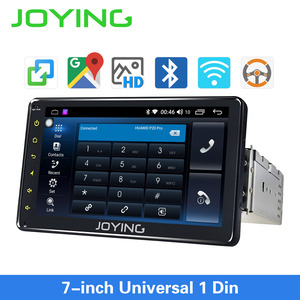 Image 1 - JOYING Android 8.1 Car Autoradio 1 Single DIN 7 Head Unit HD Multimedia Stereo Car Radio Player Bluetooth FM WIFI Mirror Link