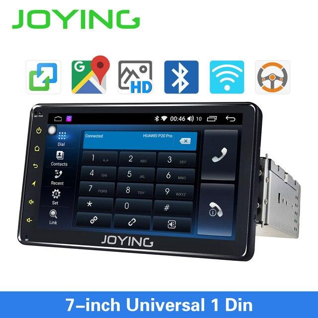 Joyingアンドロイド8.1カーautoradio 1シングルディン7 ヘッドユニットhdマルチメディアステレオ車のbluetooth fm wifiのミラーリンク